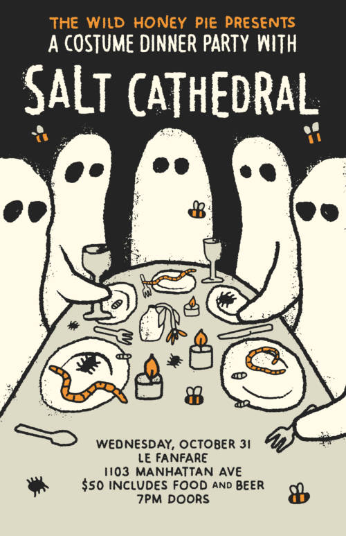 A Costume Dinner Party with Salt Cathedral
